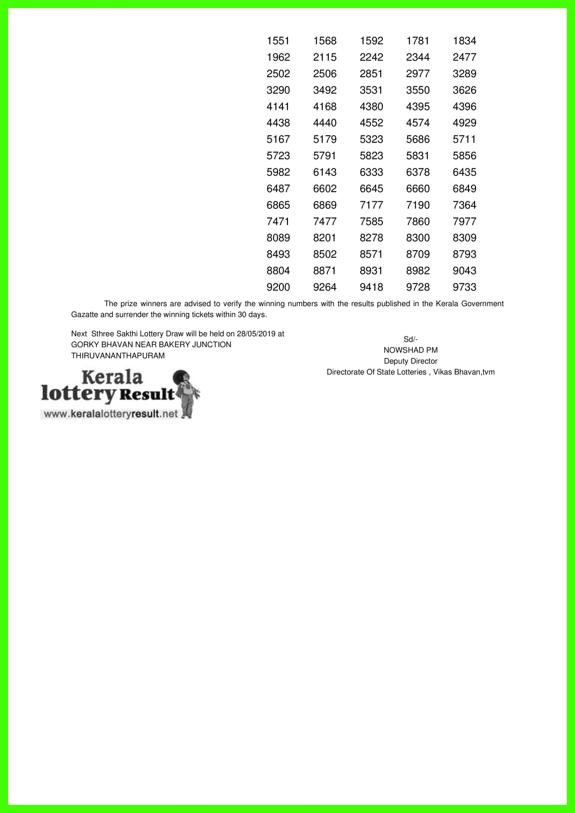 Sthree Sakthi LOTTERY NO. SS-158th DRAW held on 21.05.2019-page-002