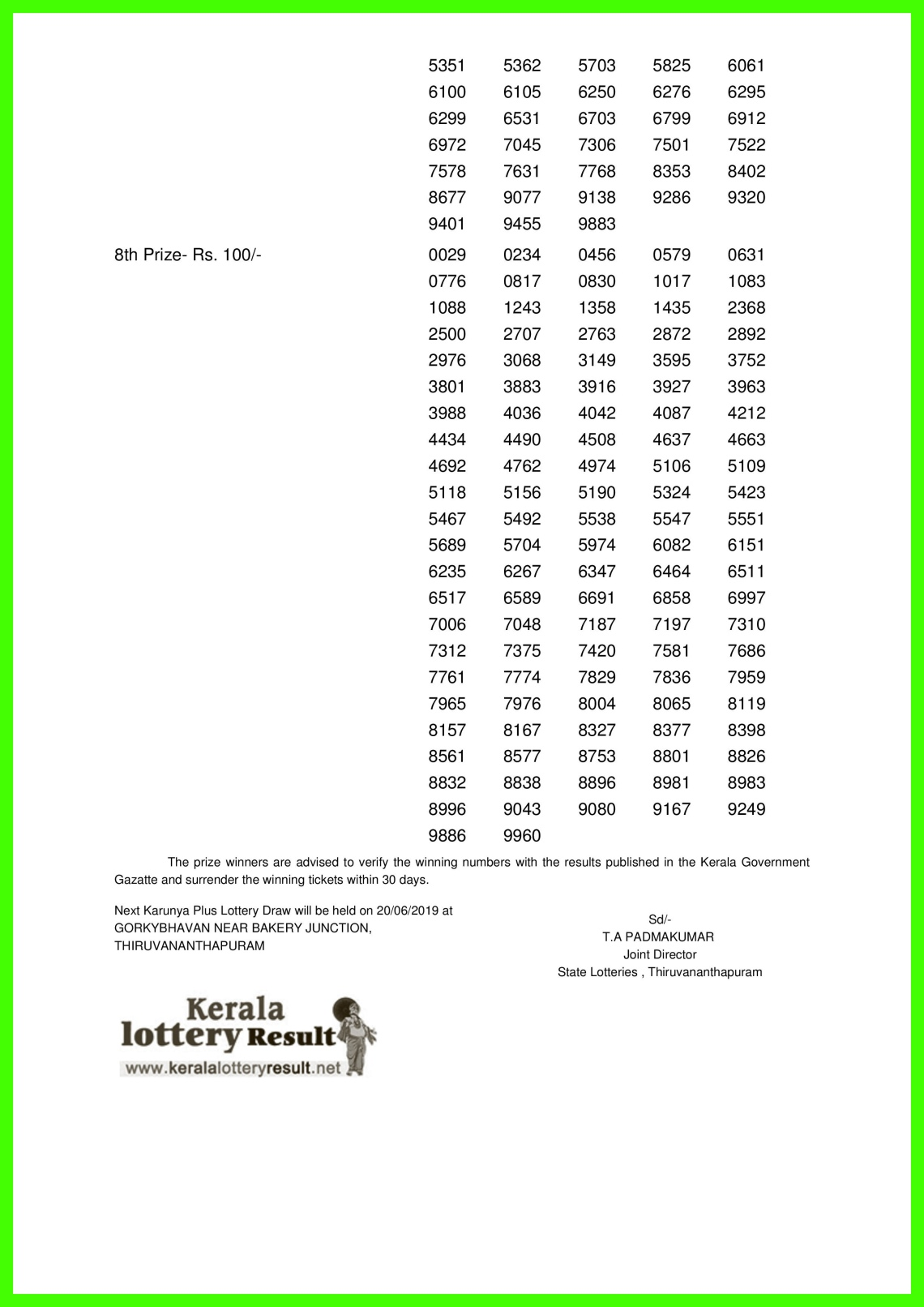 Karunya Plus LOTTERY NO. KN-269th DRAW held on 13.06.2019-page-002