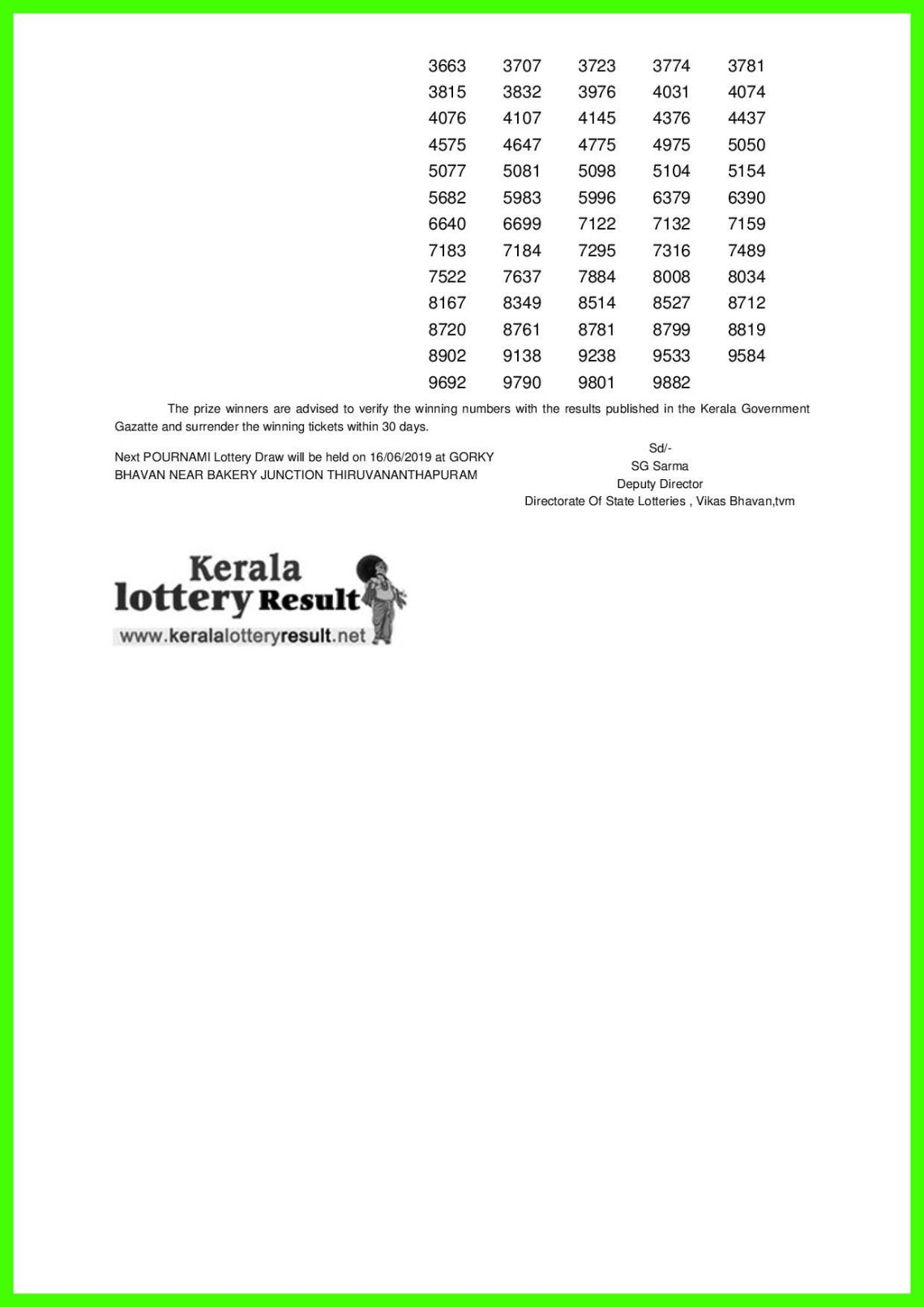 POURNAMI LOTTERY NO. RN-395th DRAW held on 09.06.2019-page-002