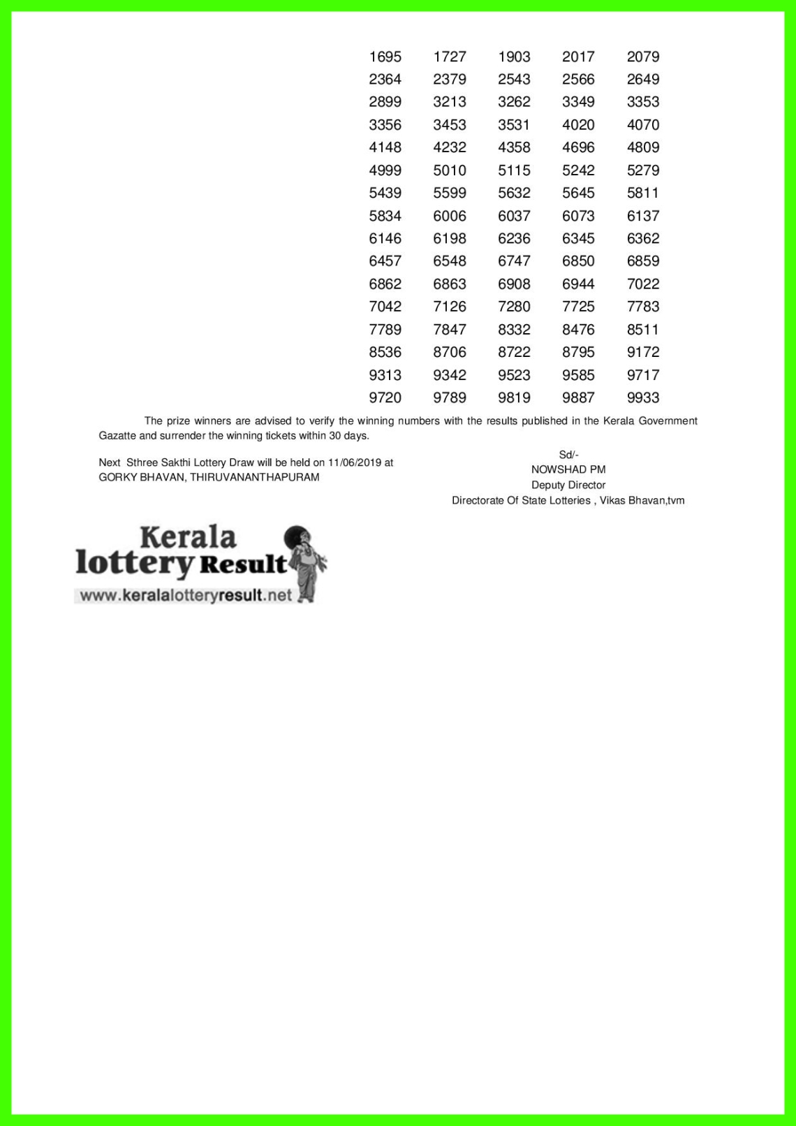 Sthree Sakthi LOTTERY NO. SS-160th DRAW held on 04.06.2019-page-002