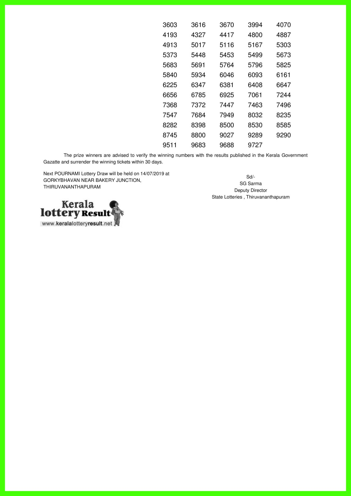 POURNAMI LOTTERY NO. RN-399th DRAW held on 07.07.2019-page-002