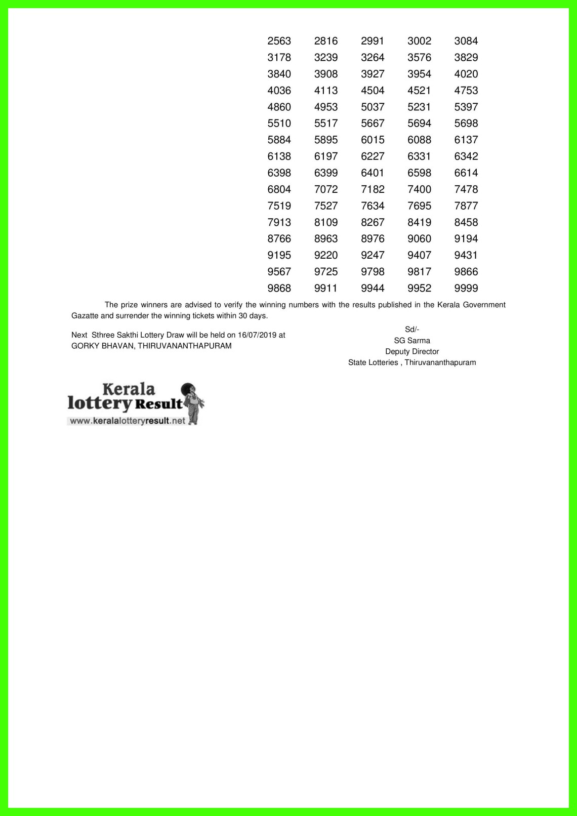 Sthree Sakthi LOTTERY NO. SS-165th DRAW held on 09.07.2019-page-002