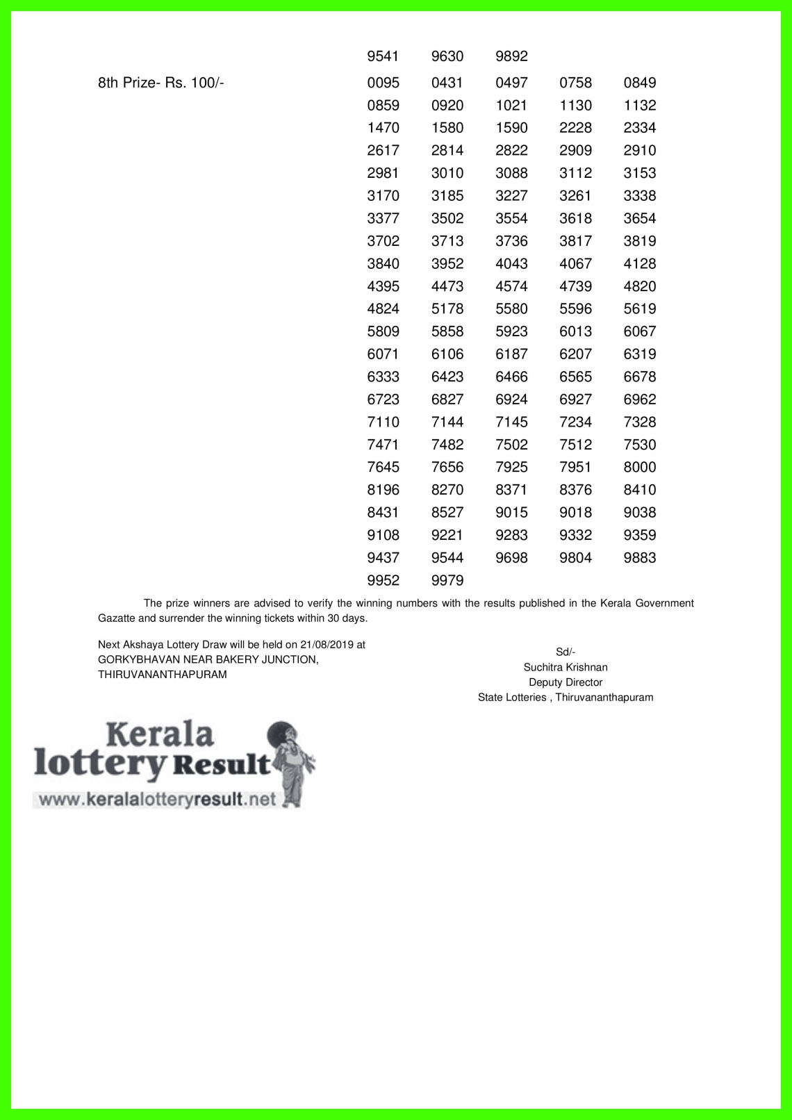 Akshaya LOTTERY NO. AK-408th DRAW held on 14.08.2019-page-002