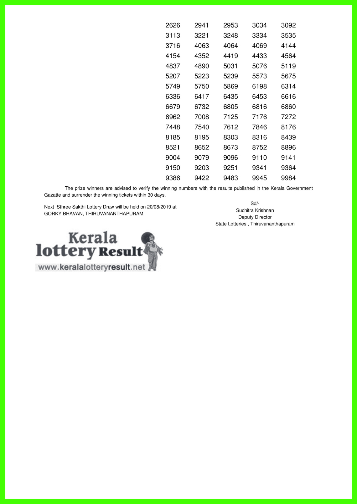 Sthree Sakthi LOTTERY NO. SS-170th DRAW held on 13.08.2019-page-002